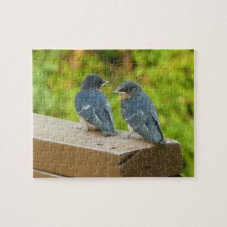 Baby Barn Swallows Nature Bird Photography Jigsaw Puzzle