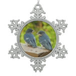 Baby Barn Swallows Nature Bird Photography Snowflake Pewter Christmas Ornament
