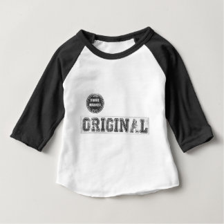 Baby Baseball Raglan with Cool Original Print Baby T-Shirt