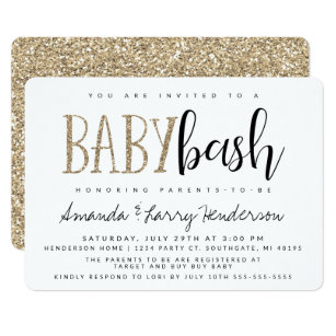 Couples baby shower invitations zazzle baby bash couples baby shower invitation filmwisefo