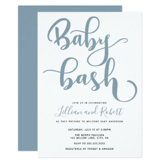 Baby Bash Couples Baby Shower Invitation