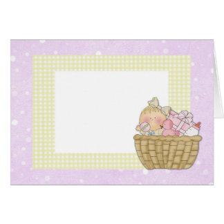 baby basket Pink Card