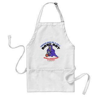 Baby Bat Dad apron