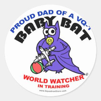 Baby Bat Dad big sticker