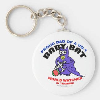 Baby Bat Dad keychain