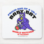 Baby Bat Dad mouse pad