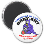 Baby Bat Dad small magnet