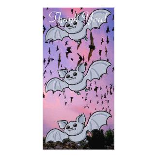 Baby Bat Flying High Photo Card