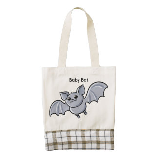 Baby Bat Flying High Zazzle HEART Tote Bag