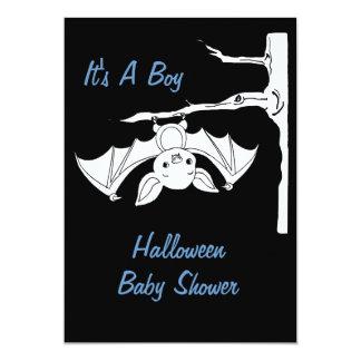 "Baby Bat Halloween Baby Shower Invitation Cards 5"" X 7"" Invitation Card"