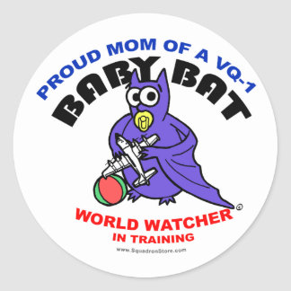 Baby Bat Mom big sticker