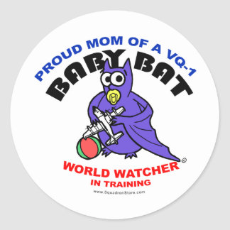 Baby Bat Mom small sticker
