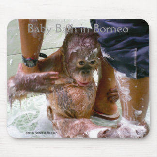 Baby Bath in Borneo Mouse Pad