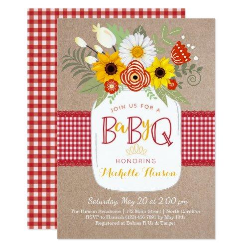 Baby BBQ Baby Shower Invitation BabyQ Invite