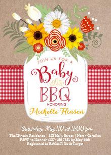 bbq baby shower invitations zazzle