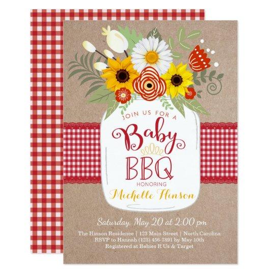 Baby BBQ Baby Shower Invitation BabyQ Invite Zazzle