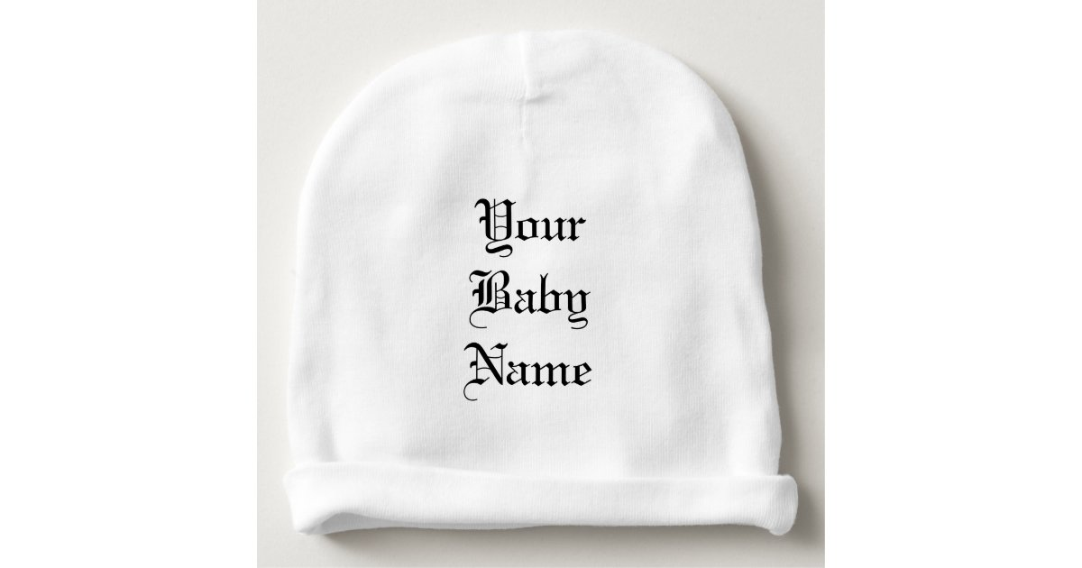 Baby Beanie with Personalized Lettered Name  643102db448