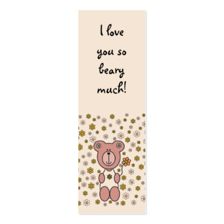Baby Bear 01 (Bookmark) Double-Sided Mini Business Cards (Pack Of 20)