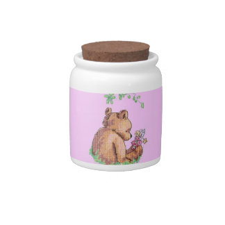 Baby Bear and Fairy in Forest ! Candy Dishes