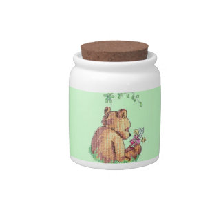 Baby Bear and Fairy in Forest ! Candy Dish