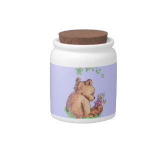 Baby Bear and Fairy in Forest ! Candy Jars