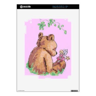 Baby Bear and Fairy in Forest ! iPad 2 Decal