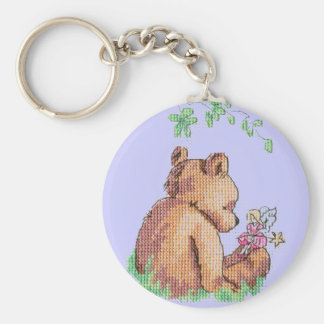 Baby Bear and Fairy in Forest ! Keychain