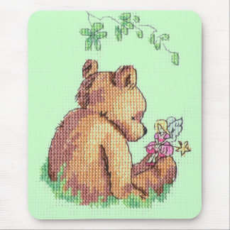 Baby Bear and Fairy in Forest ! Mouse Pad