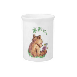 Baby Bear and Fairy in Forest ! Pitcher