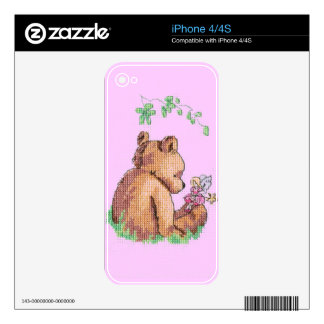 Baby Bear and Fairy in Forest ! iPhone 4 Skins