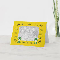 Baby Bear and Green Tractor Photo Card