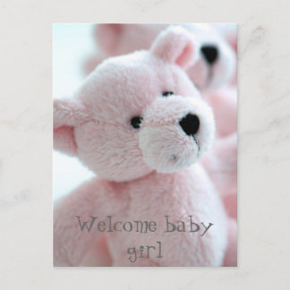 Baby Bear Announcement Postcard