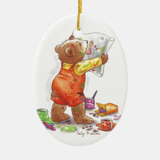 Baby Bear Artist Ornament