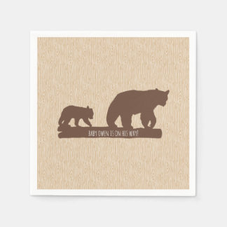 """Baby Bear"" Baby Shower - Personalized Napkin"