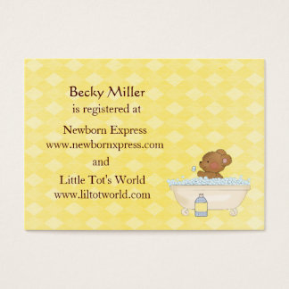 Baby Bear Bath Time Baby Shower Registry Cards