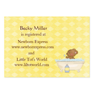 baby bear bath time baby shower registry cards large business card