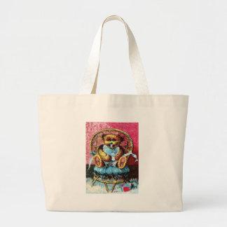 Baby Bear Benny - Letter B - Vintage Teddy Bear Canvas Bags