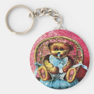 Baby Bear Benny - Letter B - Vintage Teddy Bear Keychain
