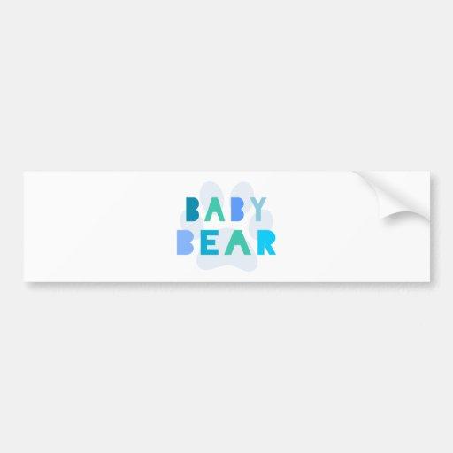 Baby bear - blue bumper sticker