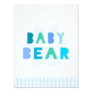 Baby bear - blue card