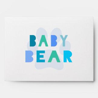 Baby bear - blue envelope
