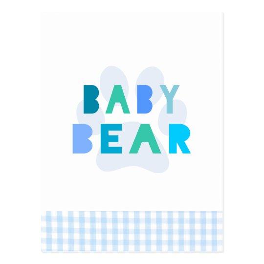 Baby bear - blue postcard