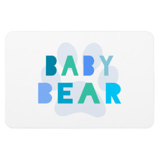 Baby bear - blue rectangle magnets
