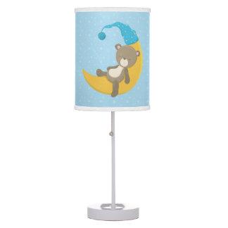 Baby Bear Blue Sleeping On The Moon II Table Lamp