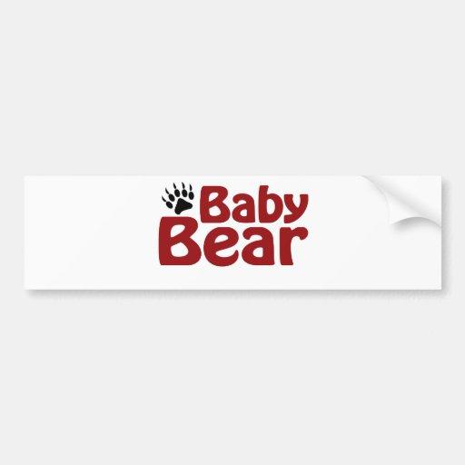 Baby Bear Claw Car Bumper Sticker