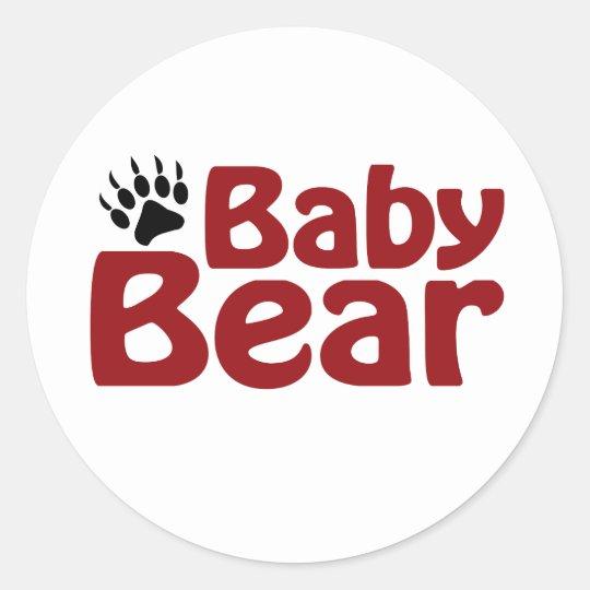 Baby Bear Claw Classic Round Sticker