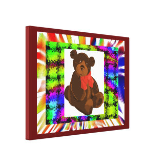 BABY BEAR COLLAGE CANVAS PRINT
