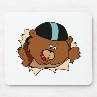 Baby Bear Face Mouse Pads