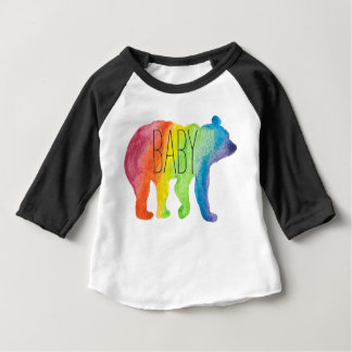 Baby Bear Family Pride Watercolor Raglan Tee