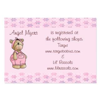 Baby Bear Gift Registry Card